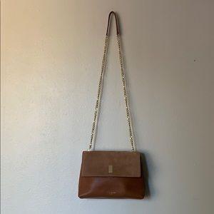 Helena Medium suede padlock crossbody bag